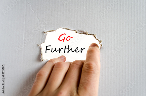 Go further Text Concept Poster