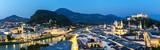 Salzburg Austria at dusk panorama - Fine Art prints