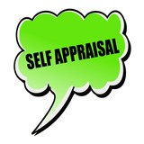 Self Appraisal black stamp text on green Speech Bubble poster