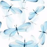 The pattern of butterflies. Seamless background. Watercolor illustration 13