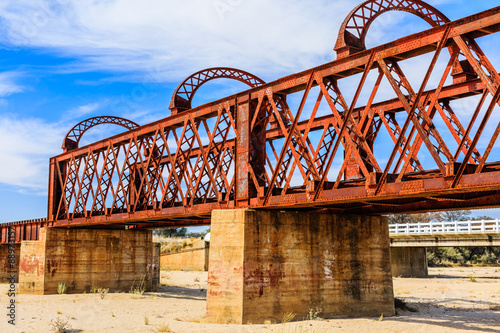 Poster Eisenbahnbrücke aus der Kolonialzeit, gebaut 1901, Seeis, Khomas