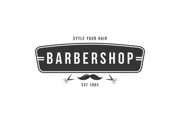 Barber shop vector brand design