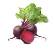 Beet root square isolated on white background