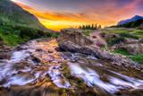 Fototapety Swiftcurrent Creek at Dawn