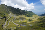 Transfagarasan road in summer time