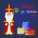 colorful vector saint Nicholas character holiday eps10