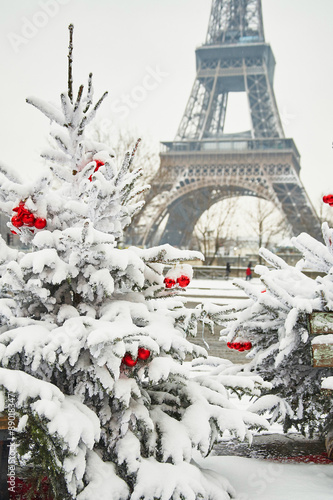 Rare snowy day in Paris © Ekaterina Pokrovsky