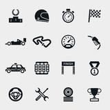 Fototapety Car race icons set