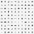 furniture 100 icons universal set