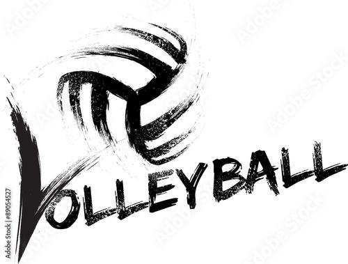 Fototapeta Volleyball Grunge Streaks