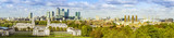 London panorama from Greenwich park, National Maritime Museum, skyscrapers of Canary Wharf and O2 arena - 89054779