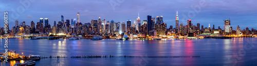 mata magnetyczna New York Panorama bei Nacht mit Blick auf die Manhattan Skyline
