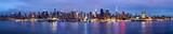 Manhattan Skyline bei Nacht New York USA