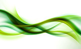 abstract green wave background - 89102505