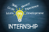 Fototapety Internship - Business and Education Concept