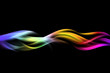 abstract color fire wave background