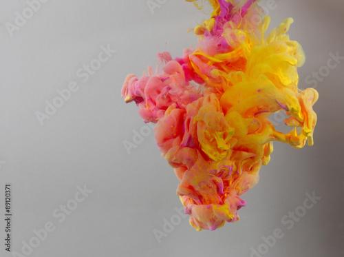Aluminium Kleuren in het water Acrylic colors and ink in water. Abstract background.