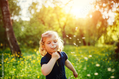 child with dandelion © standret