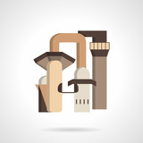 Metallurgy factory flat vector icon poster