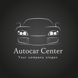 car icon design silhouette in vector format