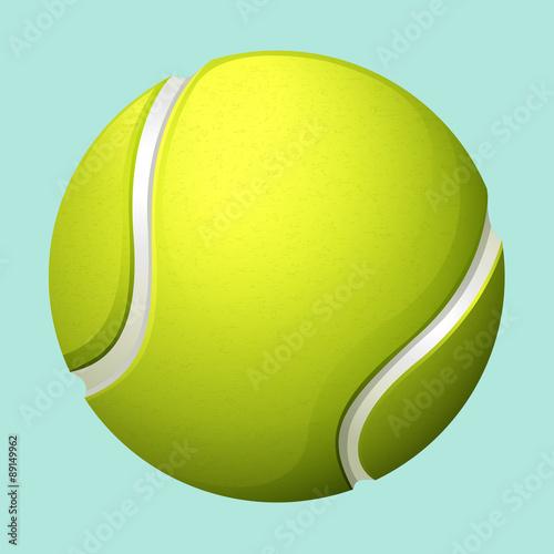 Fototapeta Tennis ball on green