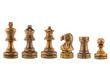 chess wood on white background