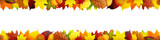 Fototapety Seamless frame with autumn leaves
