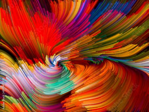 Fototapeta samoprzylepna Color Vortex Composition