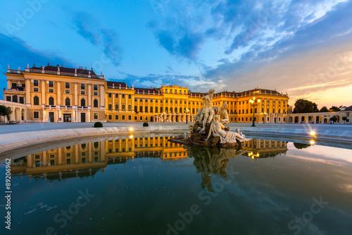Foto op Canvas Wenen Schonbrunn Palace
