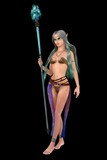Fantasy elven female with magic staff poster