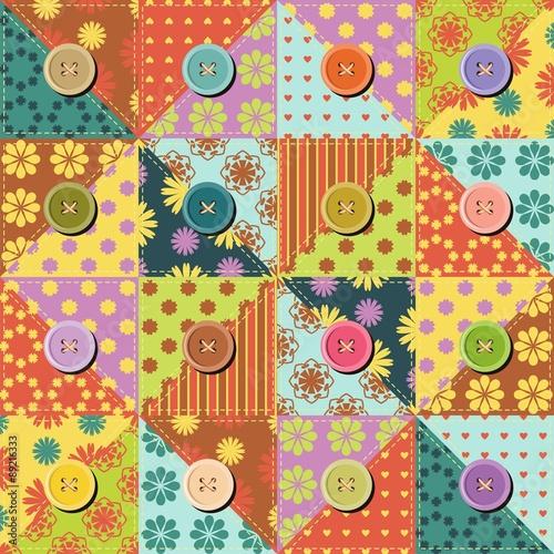 Fototapeta patchwork background