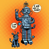 Fototapety I am not a robot said dog future science fiction