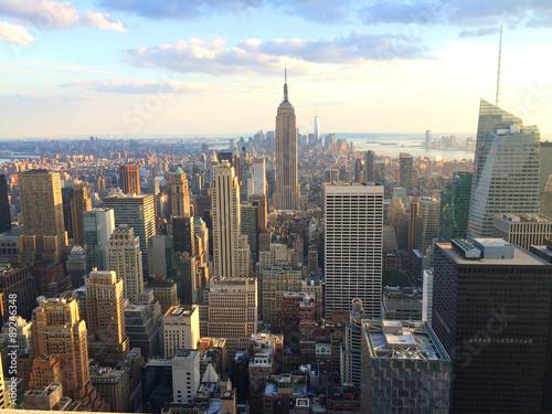 Zdjęcia na płótnie, fototapety, obrazy : New York vista al tramonto da top of the rock