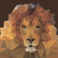 lion in the style of origami