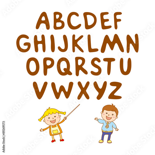 poster of kids school art  boy, abc, alphabet, aducation,