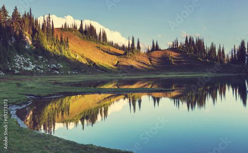 Poster Landschappen Image lake
