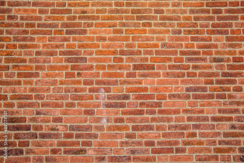 Solid rustic red bricks wall surface 89278381