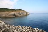 deniz kayalık ve gökyüzü