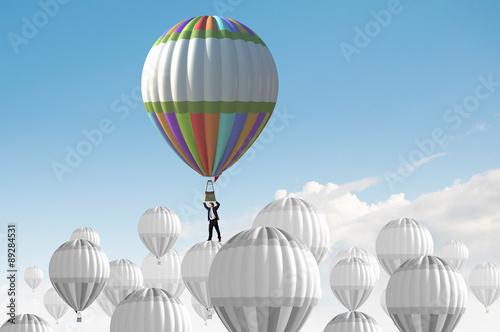 Deurstickers Ballon Search for new business ideas