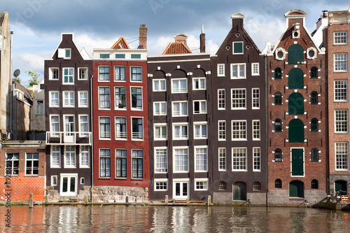 Poster Canal houses in Amsterdam, THe Netherlands
