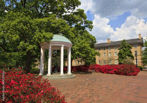 Plexiglas Azalea Historic Old Well at UNC Chapel Hill in North Carolina