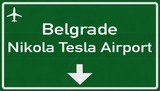 Belgrade Serbia Airport Highway Sign