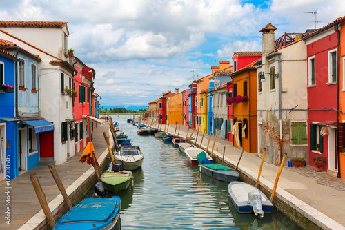 Colorful houses on the Burano, Venice, Italy Poster