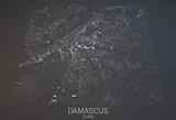 Damasco, vista satellitare, sezione 3d, Siria