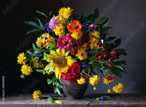 Fototapeta Bouquet from cultivated flowers