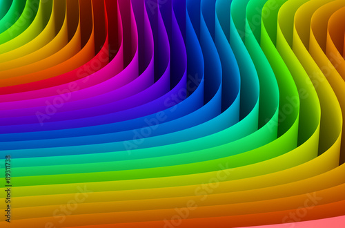 Abstract rainbow colors wave background © alexlmx