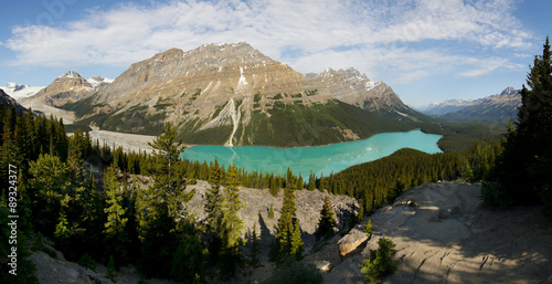 Peyto Lake - glacier  lake located in Banff National Park in the Canadian Rockies. © pettys