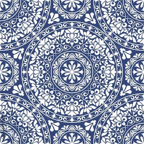 Blue Ornamental Pattern
