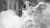 Yugambeh Aboriginal warrior preform Aboriginal martial art poster