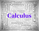 Calculus Word Indicates Algebra Figures And Words poster